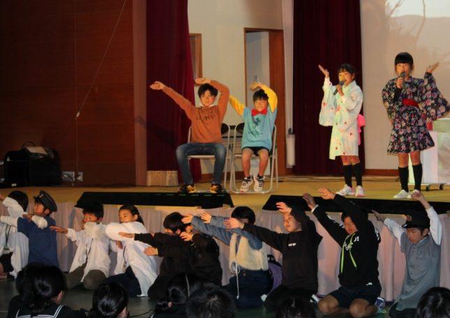 島の小学生